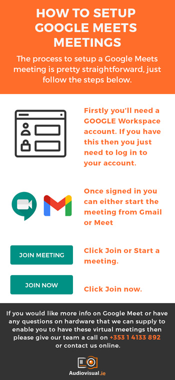 How To Set Up Google Meets Meetings - Audiovisual Ireland