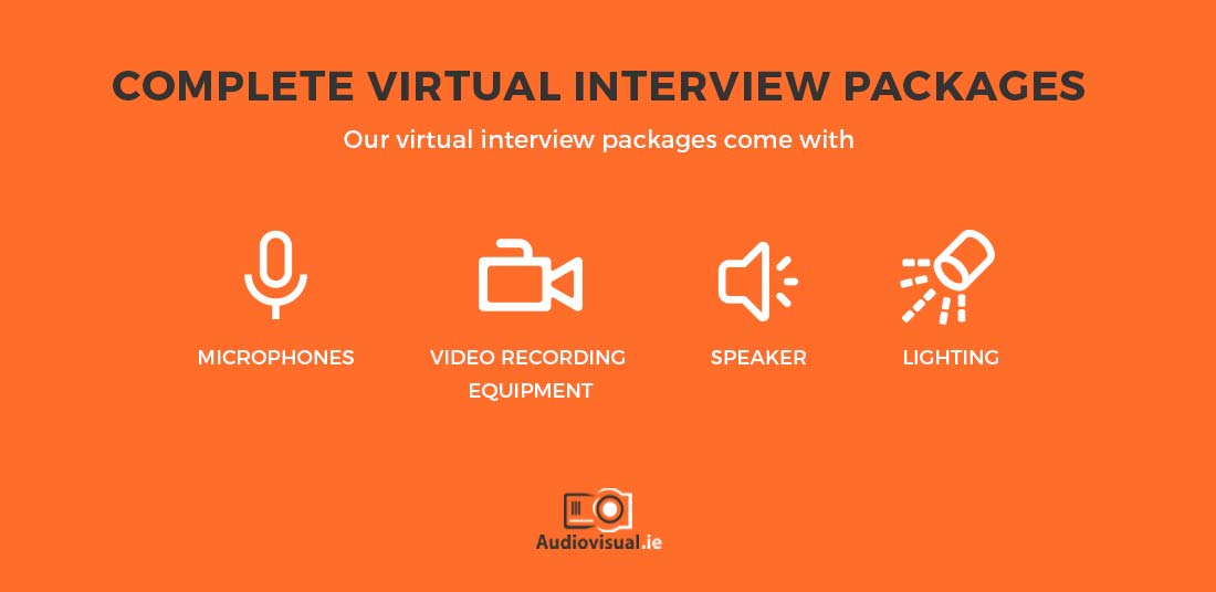Complete Virtual Interview Packages Rental - Audiovisual Ireland