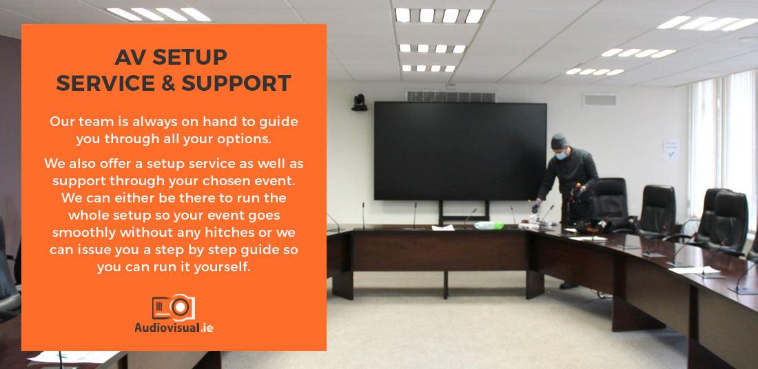 AV Setup Service and Support - Audiovisual Maintenance Ireland