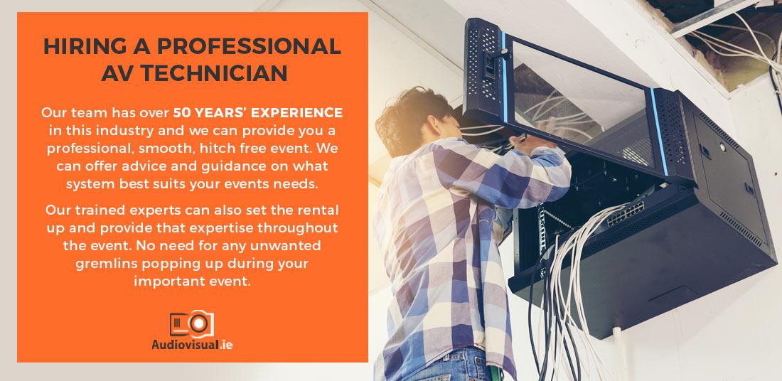 Hire Professional AV Technician - Dublin - Audiovisual