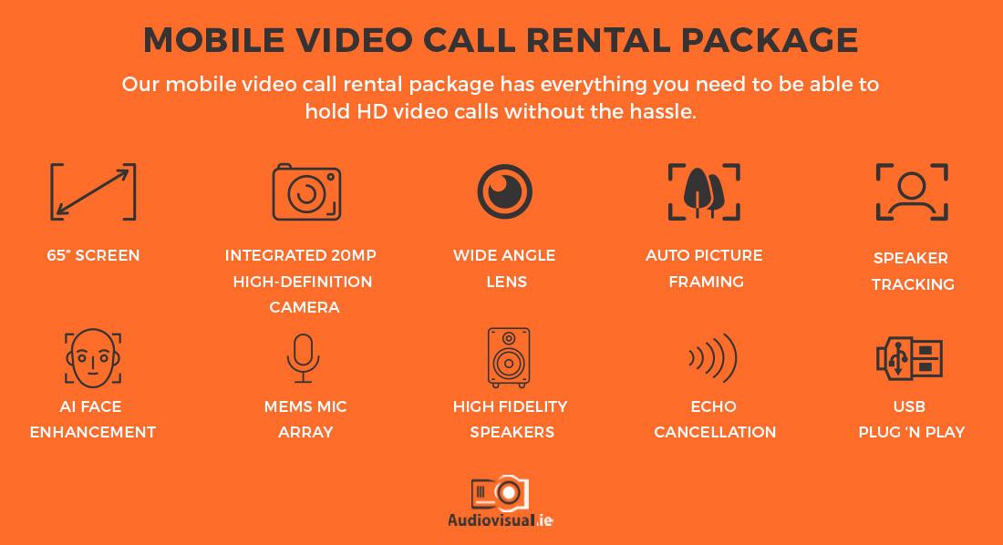 Mobile Video Call Rental Package - Audiovisual Dublin