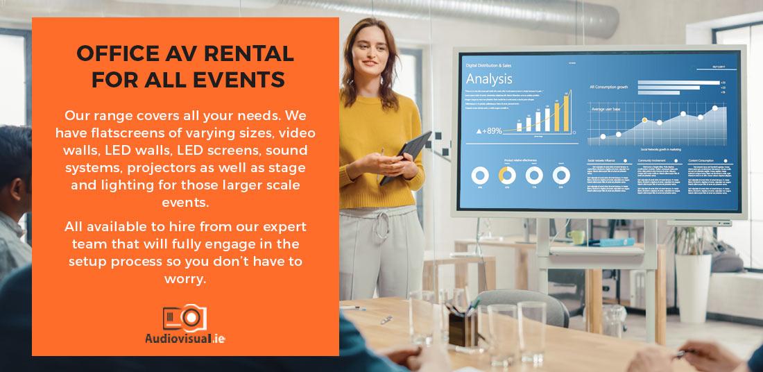 Office AV Rental All Events - LED Screen - LED Wall - Projector - Audiovisual